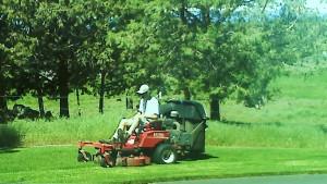 Bryan on mower small